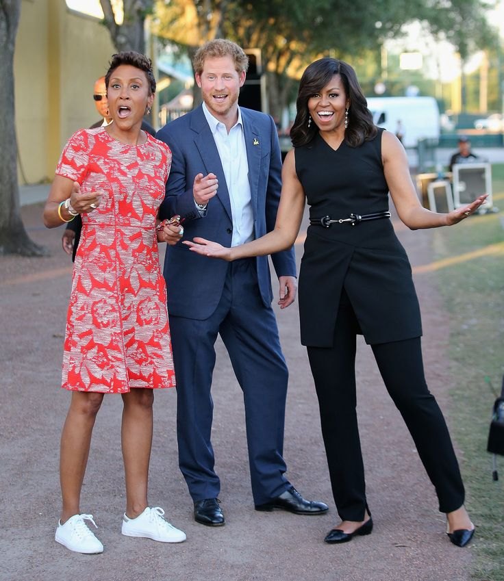 Prince Harry & Michelle Obama interview w/Robin ? for Good Morning America at the opening ceremonies of the Invictus Games May 2016