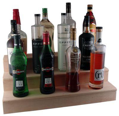Bar Display Liquor Bottle | Bar Supplies.com : Wooden Liquor Bottle Display Shelves. Homemade with wood I can cut down myself