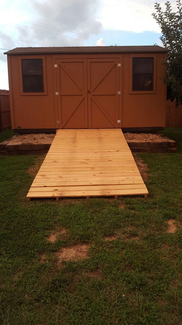 Ramp for shed