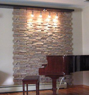 17 best ideas about stone accent walls on pinterest faux - Faux stacked stone interior walls ...