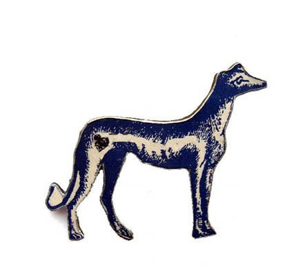 Wonderfully Whimsical  Blue Greyhound Dog Brooch by EllyMental £12.50