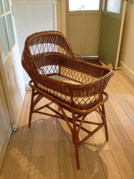 Wicker Baby Basinet with mattress and linen | Cots & Bedding | Gumtree Australia Ballarat City - Bakery Hill | 1091850209