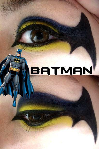 Batman Makeup by ~Steffmiesterx13 on deviantART   Ohmygod.