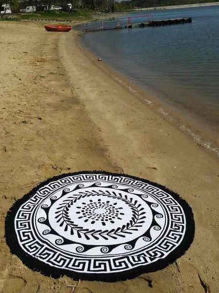 Serviette Ronde 'GREEK SUN' 150 cm