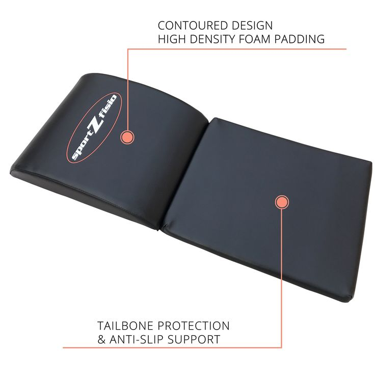 Ab Mat Abdominal Workout Cruncher Pad | Floor Exercise Equipment For Crunches Sit Ups Leg Lifts Pilates Conditioning | Crossfit Core Trainer Tailbone Protection Padding. ENABLES FULL RANGE OF MOTION TO WORK YOUR ENTIRE CORE - Feel the difference during your abdominal exercise as you get a total ab workout hitting your Rectus Abdominis (Six Pack), External Obliques, Transverse Abdominis and Internal Obliques, as well as your Lower Back and Lumbar Region. NO SLIP TAILBONE PROTECTION PAD…