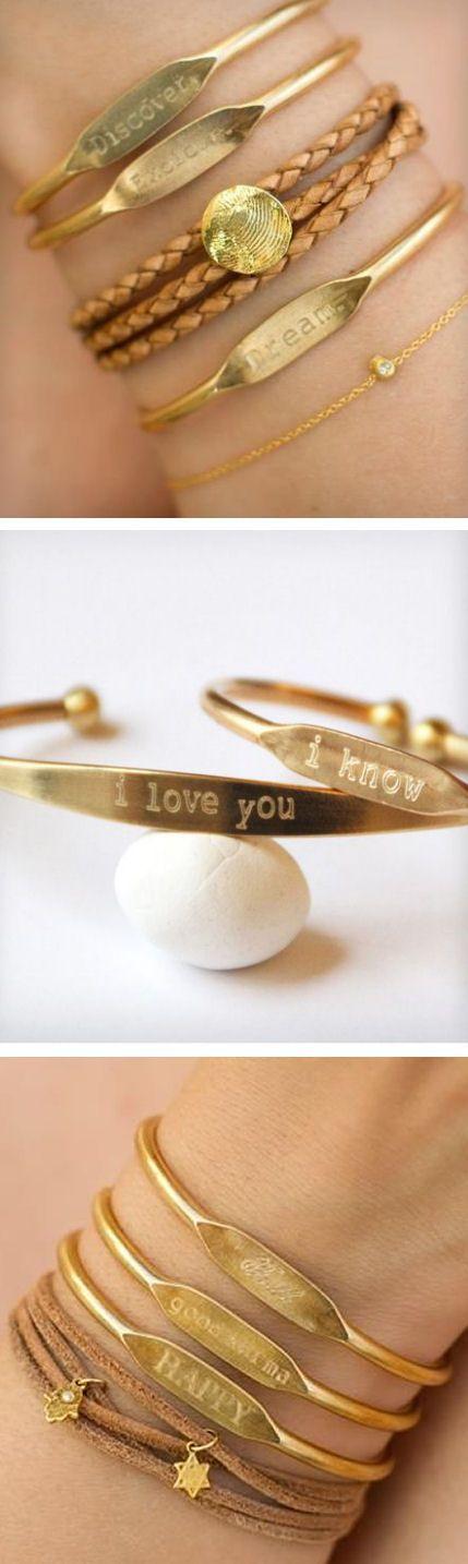 Custom Engraved Cuff Bracelets