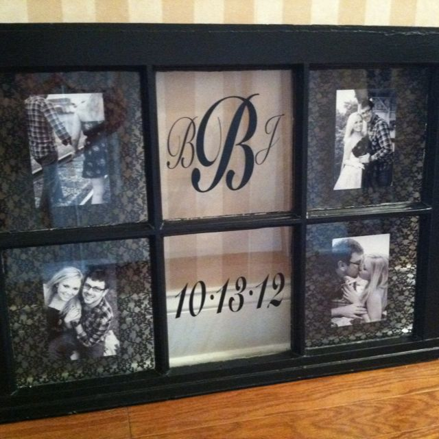 Old window transformed into a wedding keepsake gift by Posh Petites Boutique. $50 Email Leann Broome at lmb0828@hotmail.com to place an order.