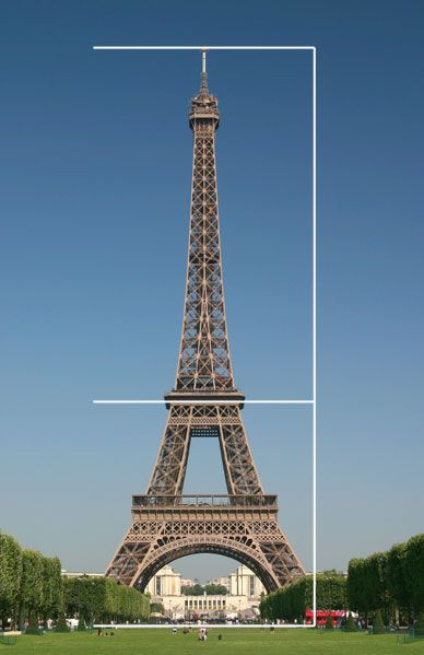 Eiffel Tower golden ratio