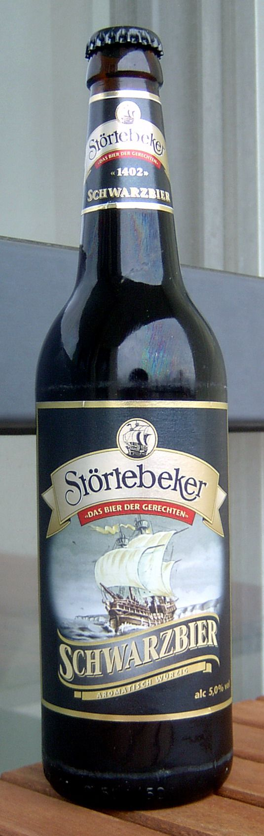 "This is my favorite German beer. Named after the pirate Klaus Störtebeker, a german Robin Hood of the North Sea, this beer not only tastes awesome but has a great story. This is a Schwarzbier ""black beer""."