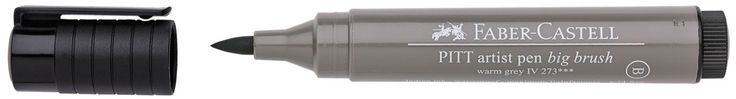 PITT Artist Pen Big Brush Pens contain four times the amount of lightfast, acid-free pigmented India Ink as the PITT Artist Pen, offering great coverage for work in large formats. The ink is smudge-re