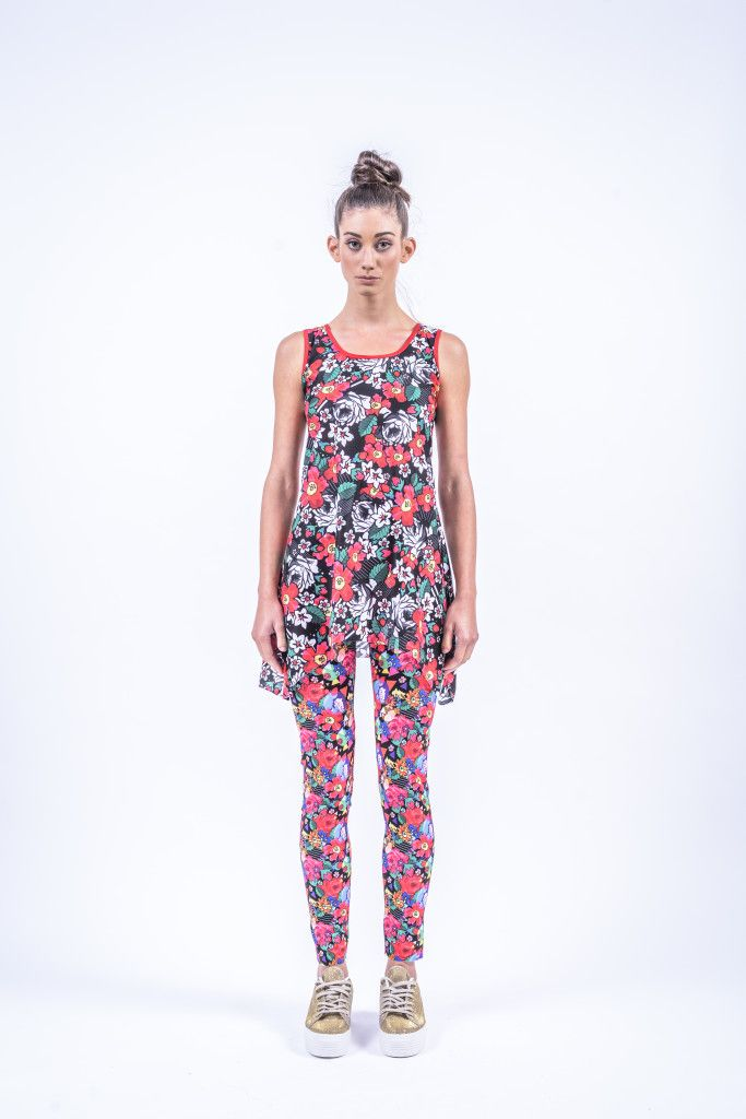 Romani Design, ss17, wanderers of the worlds, roma, gypsy, stripes, striped, floral, print, rose, roses, fashion, flower, flowers, outfit, spring, summer, leggings, long, top, tunic