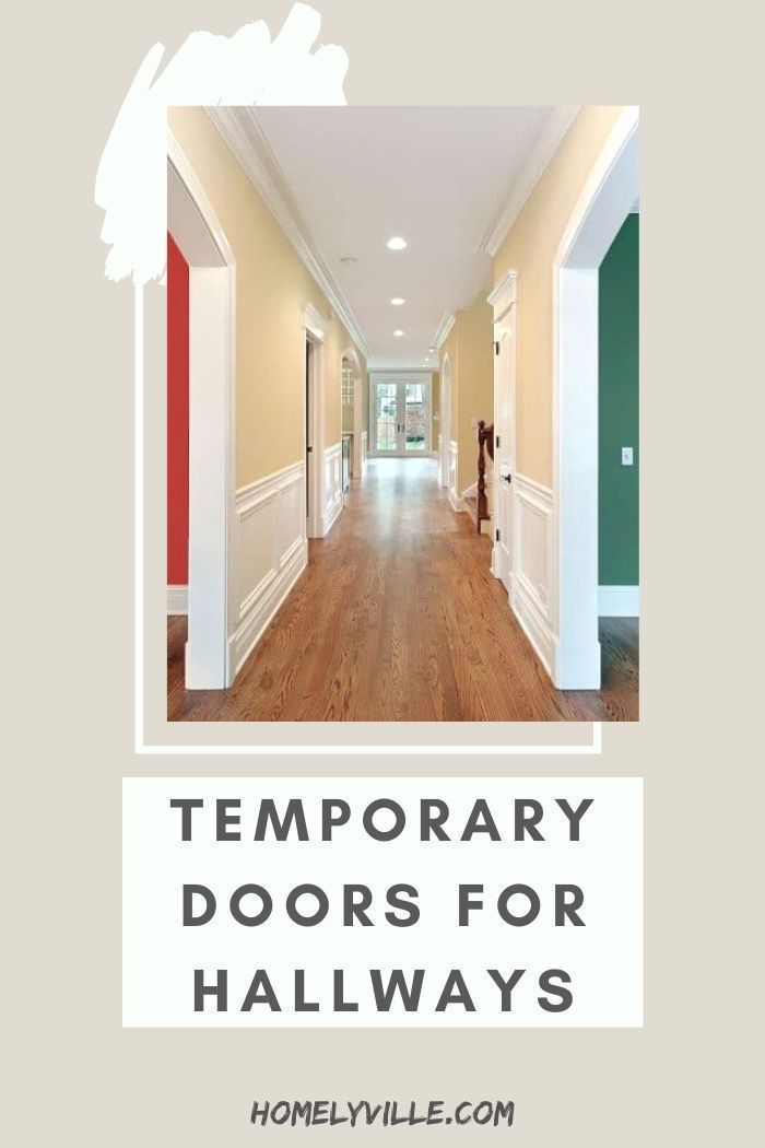 Temporary Doors For Hallways 5 Ideas To Cover A Door Opening Coverings