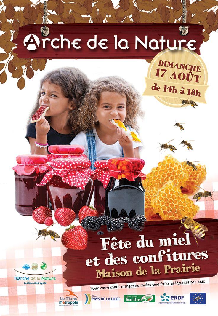 Recherche de visuel pour affiche Fête du miel et des confitures. Ville du Mans.
