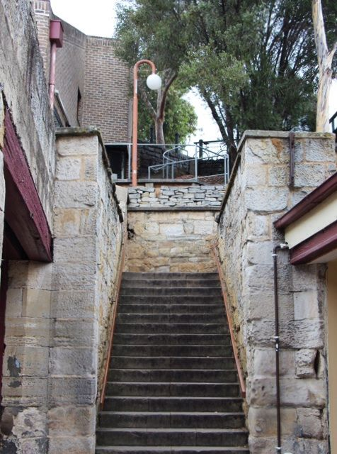 The Kelly Steps - early 1800s, leading to Battery Point, named after Captain James Kelly - these steps led to his home.
