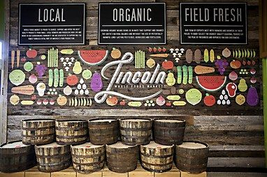 Mural at a new Whole Foods Market in Lincoln, Nebraska