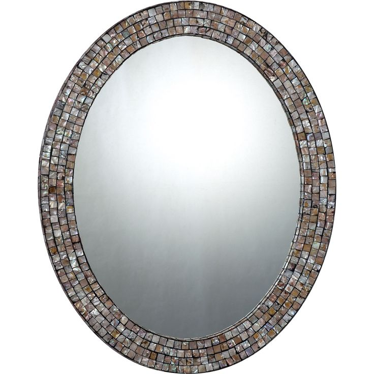 Bring natural elegance to your home with the Quoizel Reflections mirror. The mirror displays a beautiful shell mosaic tile frame that gives the piece a more one of a kind look.