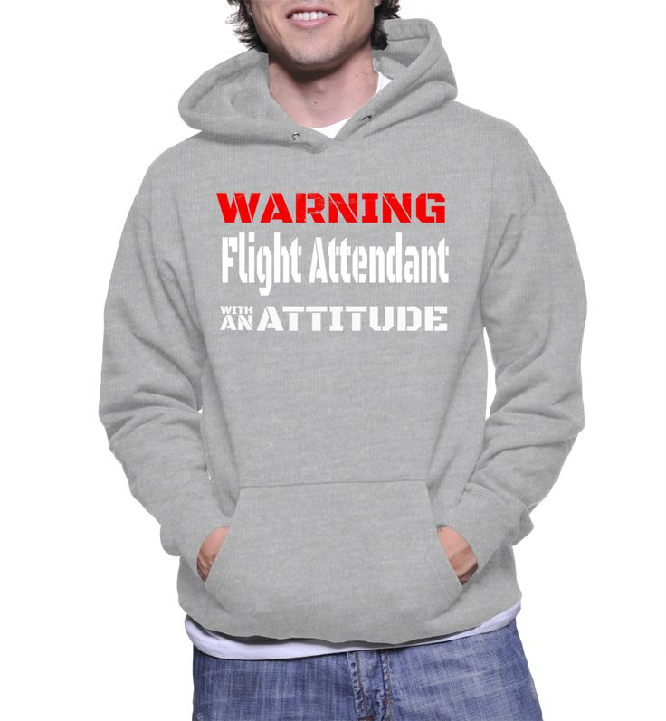 Warning Flight Attendant With An Attitude Hoodie