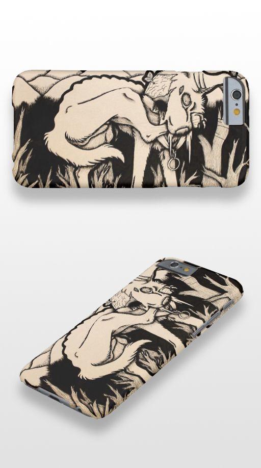 """""""Runt"""" Gothic illustrated dog iPhone 6 Case"""