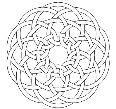 Penta Celtic Knotwork By Peter Mulkers MandalaCeltic QuiltCeltic Knot DesignsCeltic PatternsAdult ColoringColouringSchickCeltic
