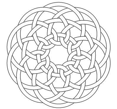 penta celtic knotwork by Peter Mulkers