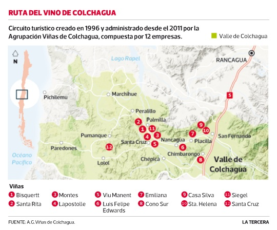 Viñas de #Colchagua reciben récord de turista. Conoce la ruta del vino.