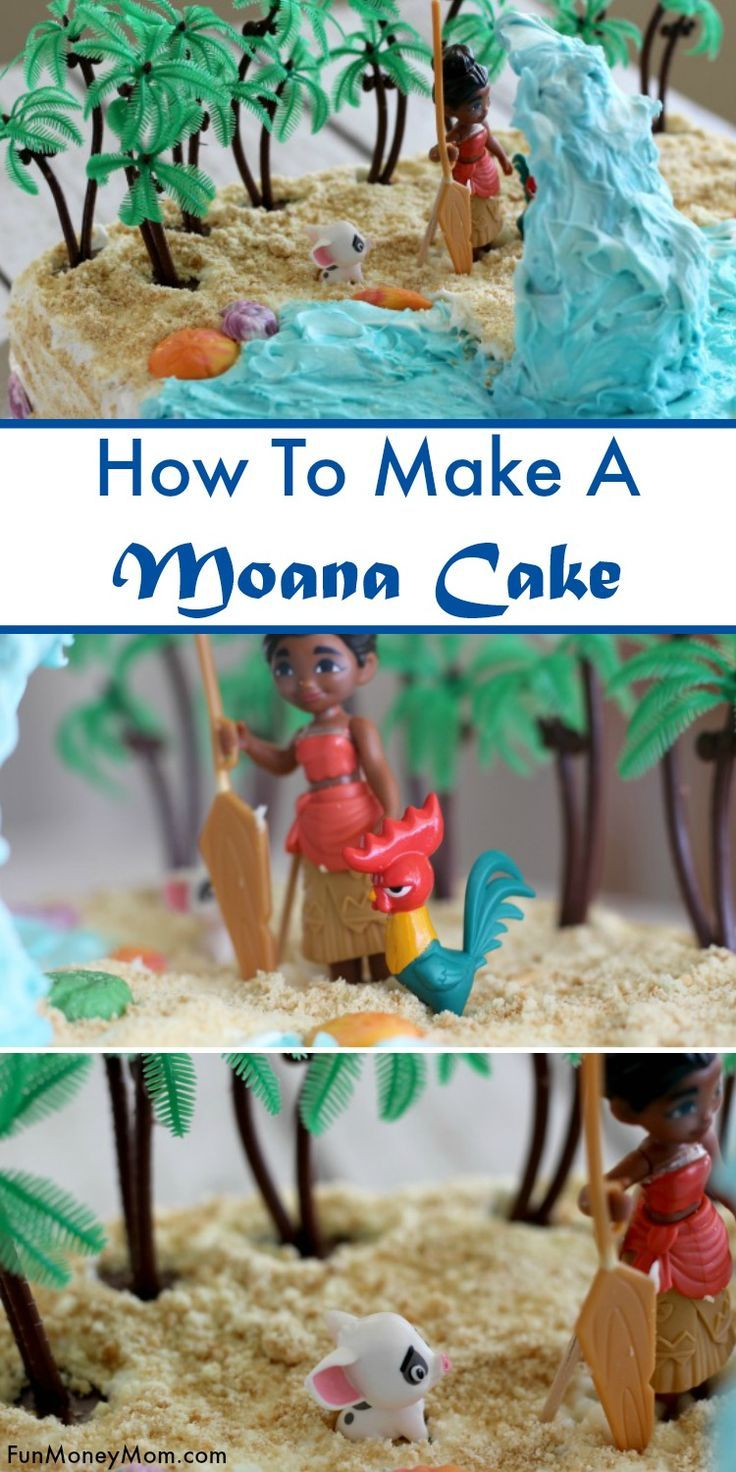 Moana Cake - If you're having a Moana party, you'll need a delicious Moana birthday too! Check out this awesome tutorial for a birthday cake that's fit for any princess! #Moanacake #birthdaycake #cake
