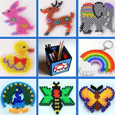 ca. 500pcs / bag 5mm gemengde kleur zekering kralen Hama kralen diy puzzel eva materiaal safty voor kinderen (willekeurige kleur) 1950816 2016 – €2.93