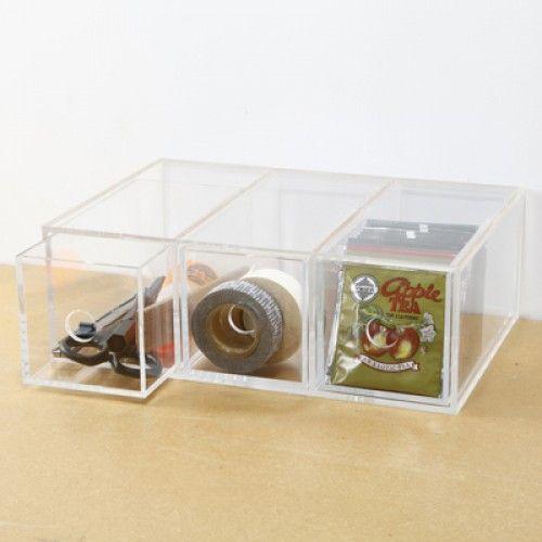 Acrylic Case 3 Drawer Unit