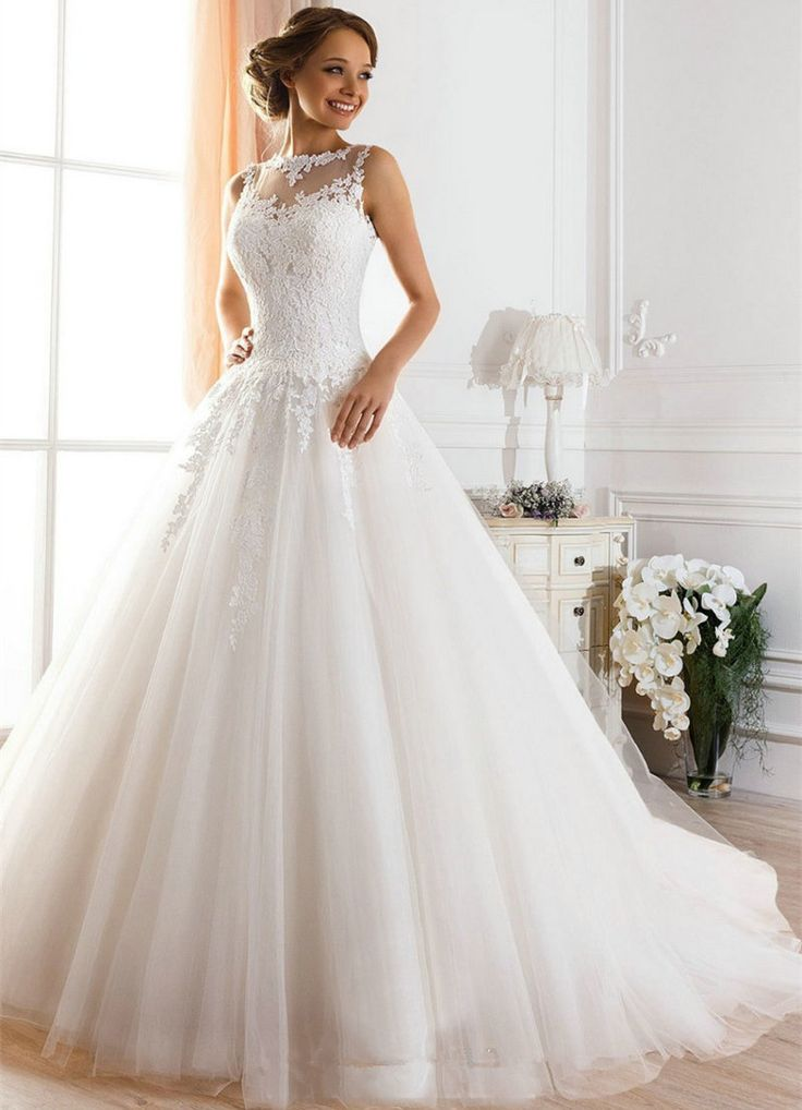 Vestidos De Novia A-line Sheer Neck Sexy Backless Lace Wedding Dresses 2017 Bridal Gown Vestido De Casamento Robe de mariage