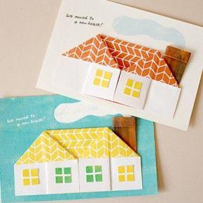origami house card