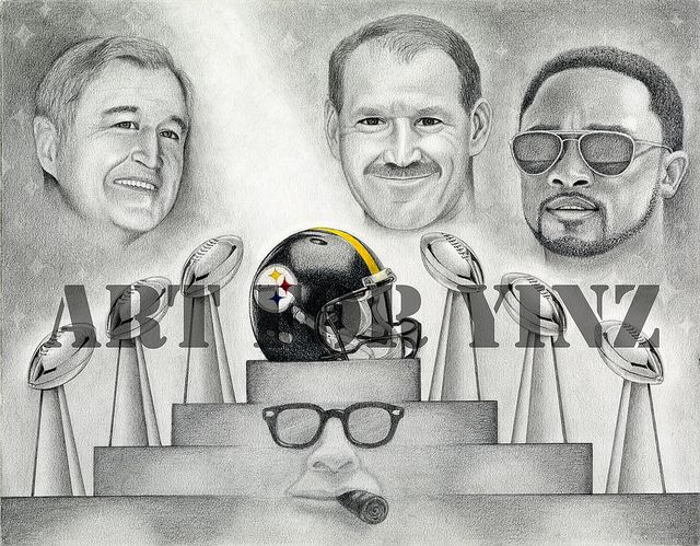 Chuck Knoll, Bill Cowher, Mike Tomlin & Art Rooney