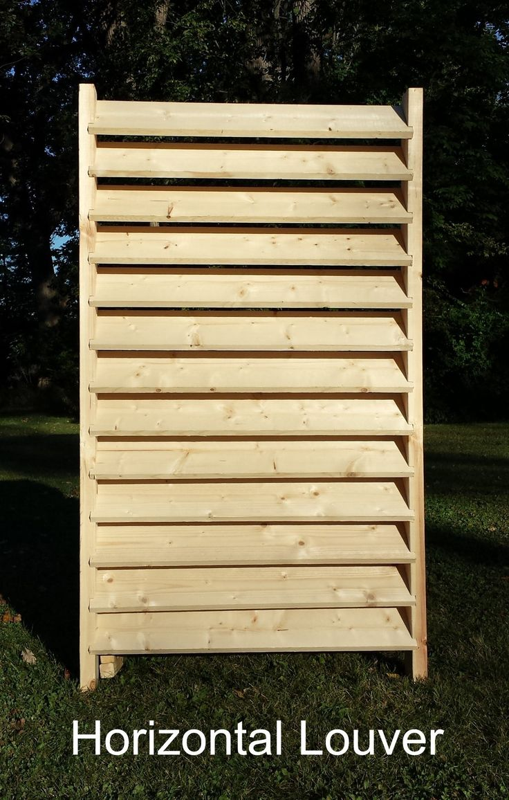Louver And Basketweave Fence Diy 2x4 Kits Vertical