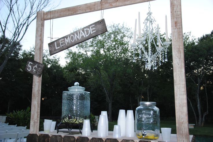 Lemonade stand rustic wedding decor pinterest for Rustic lemonade stand