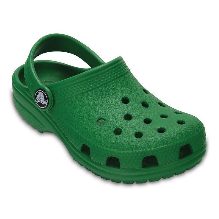 Crocs Classic Kids' Clogs, Boy's, Size: 2, Med Green
