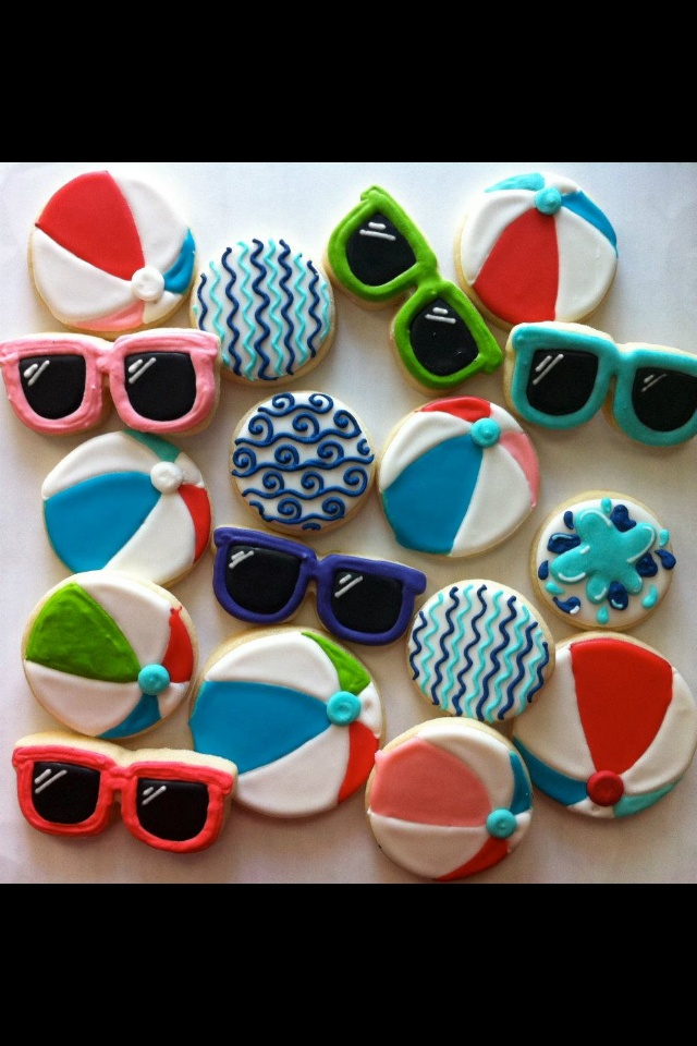Beach - I am loving the wave cookies!!!