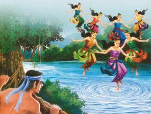 cerita rakyat jaka tarub dan 7 bidadari