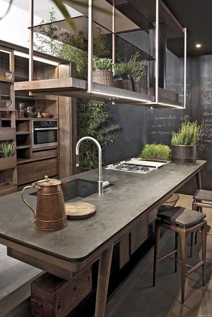 Stylish Industrial Kitchen Design Ideas 34 - HomeKemiri.com