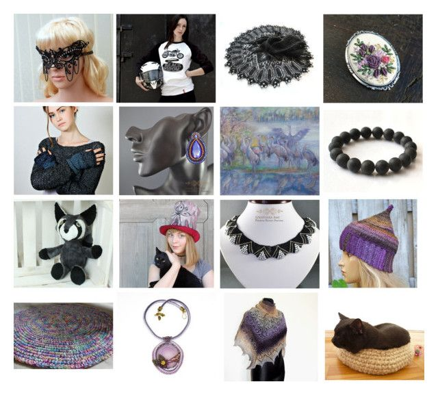 """""""Treasury collection"""" by landoflaces on Polyvore featuring moda, Masquerade, WALL, handmade i poletsy"""
