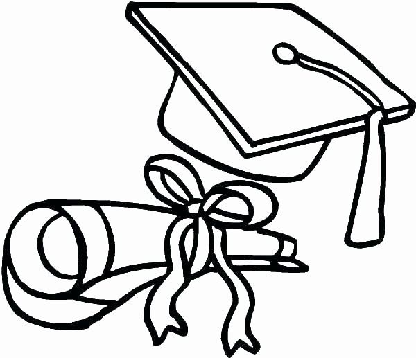 Graduation Cap Coloring Page Unique Cap And Gown Coloring Page At Getcolorings Coloring Pages Cute Coloring Pages Christmas Coloring Books