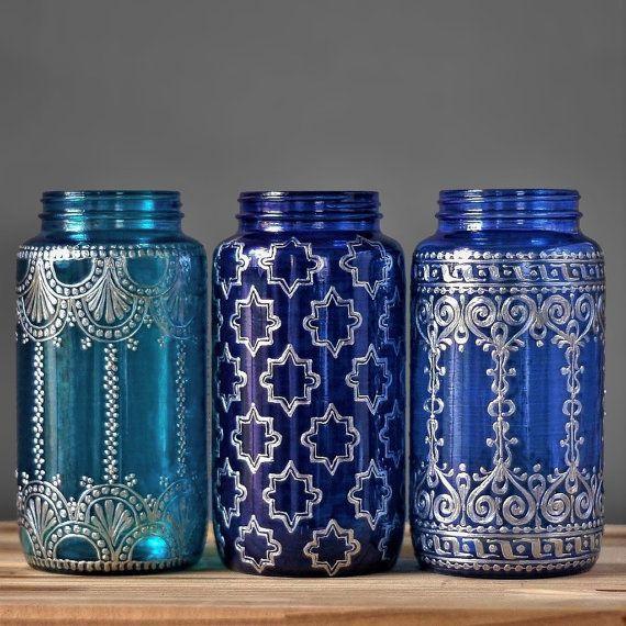 Vase de bocal à conserves Boho Accessoires décoration par LITdecor