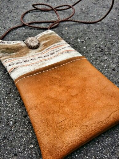 Maiara (i), Sling Pouch  #tribe #native #maiara #series #collection #sling #pouch #brown #button #leather #4strandstrap #boho #bohemian #hippie #gypsy #earth #love #life #handcrafted #beadedsoul