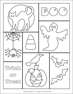 preschool coloring halloween pages - photo#37