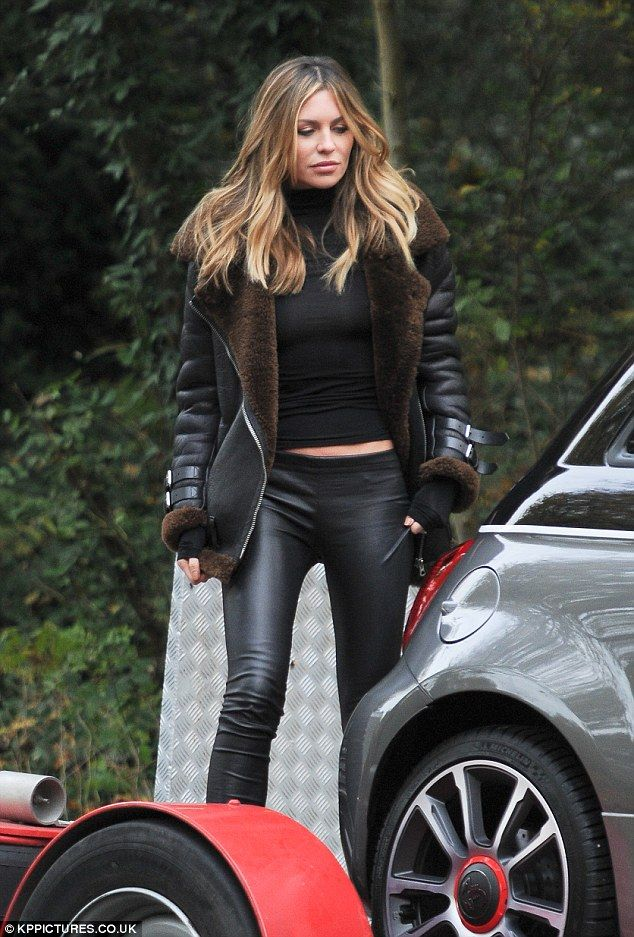 Va-va-voom!Abbey Clancy's, 30, was spotted filming a Fiat TV advert in North London on Tuesday