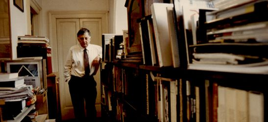 Aldo Rossi in his studio
