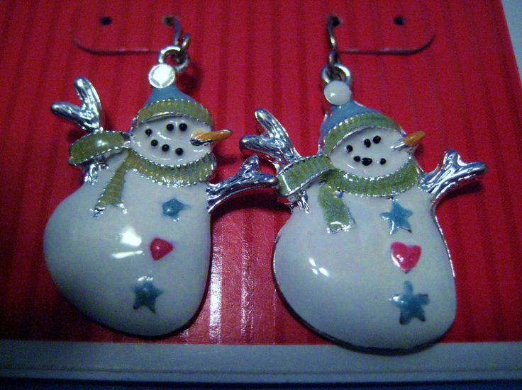 Christmas Holiday Metal Earrings For Pierced Ears Snowmen Dangles New! #Target #DropDangle