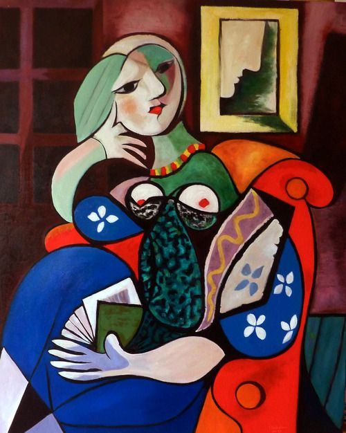 """Woman with Book"", 1932, Pablo Picasso"