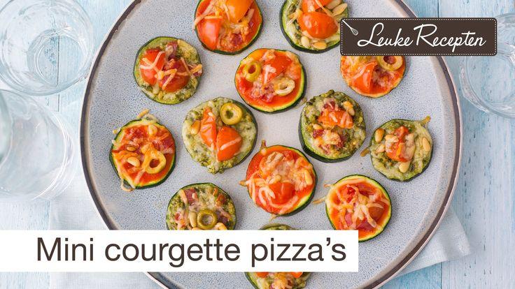 Mini courgette pizza recept