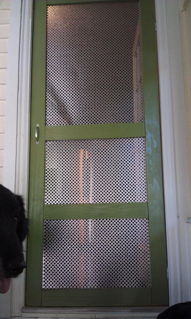 My updated screen door...cat and puppy proof! & Best 10+ Cat door for window ideas on Pinterest | Cat window ... Pezcame.Com