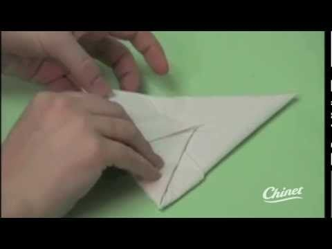 Chinet Napkin Folding - Bunny - YouTube