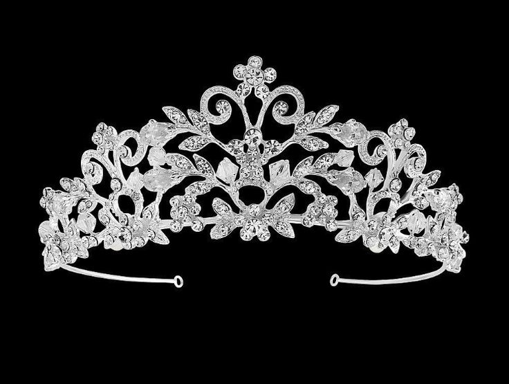 So pretty! Silver Plated Crystal Rochelle Enchantment Tiara for your Quinceanera- sale! - Affordable Elegance Bridal -